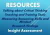 Insight Assessment offers practical resources for teaching and training good thinking