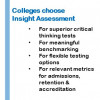 Colleges choose Insight Assessment for superior critical thinking tests